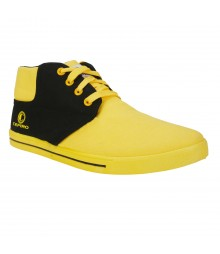 Cefiro Fun03 Yellow Black Men Casual Shoes CCS0015