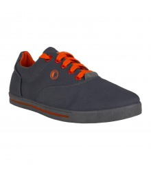 Cefiro Dark Grey Orange Casual Shoes Fun for Men - CCS0016