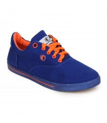 Cefiro Men Casual Shoes Fun04 Royal Blue Orange CCS0017