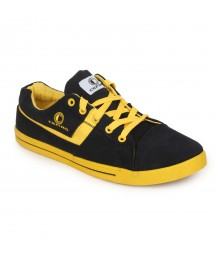 Cefiro Men Casual Shoes Fun05 Black Yellow CCS0022