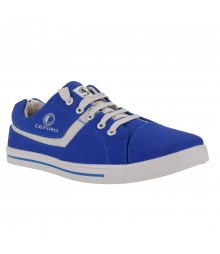 Cefiro Royal Blue Grey Casual Shoes Fun for Men - CCS0023
