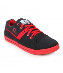 Cefiro Men Casual Shoes Fun05 Black Red CCS0025