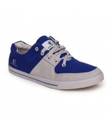 Cefiro Men Casual Shoes Fun06 Light Grey Royal Blue CCS0026