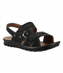 Cefiro Black Sandal for Men - CSD0001