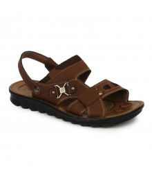 Cefiro Red Brown Sandal for Men - CSD0003