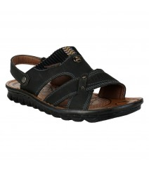 Cefiro Black Sandal for Men - CSD0010