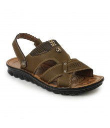 Cefiro Khaki Sandal for Men - CSD0011