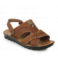 Cefiro Red Brown Sandal for Men - CSD0012