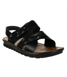Cefiro Black Sandal for Men - CSD0035