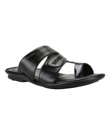 Cefiro Black Slipper for Men - CSP0001