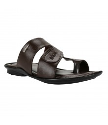 Cefiro Brown Slipper for Men - CSP0002