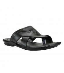 Cefiro Black Slipper for Men - CSP0004