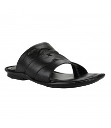 Cefiro Black Slipper for Men - CSP0005