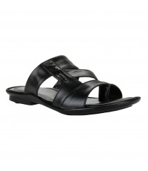 Cefiro Black Slipper for Men - CSP0007