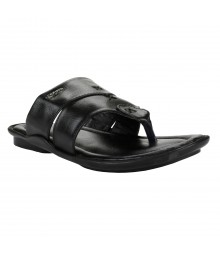 Cefiro Black Slipper for Men - CSP0008