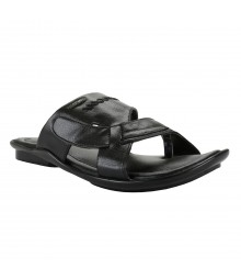 Cefiro Black Slipper for Men - CSP0010
