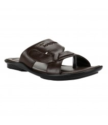 Cefiro Brown Slipper for Men - CSP0011