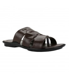 Cefiro Brown Slipper for Men - CSP0012
