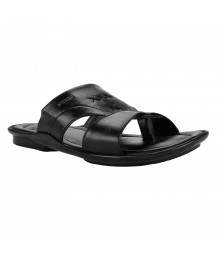 Cefiro Black Slipper for Men - CSP0015