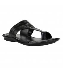 Cefiro Black Slipper for Men - CSP0016