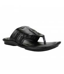 Cefiro Black Slipper for Men - CSP0017