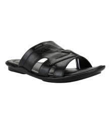 Cefiro Black Slipper for Men - CSP0019
