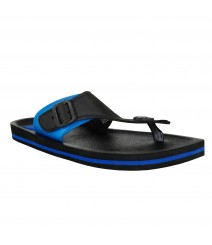 Cefiro Black Blue Slipper Omega for Men - CSP0025