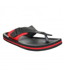 Cefiro Black Red Slipper Omega for Men - CSP0028