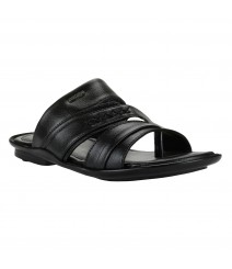 Cefiro Black Slipper for Men - CSP0031
