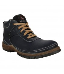 Le Costa Black Boot Shoes for Men - LCL0032
