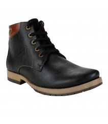 Le Costa Black Boot Shoes for Men - LCL0035
