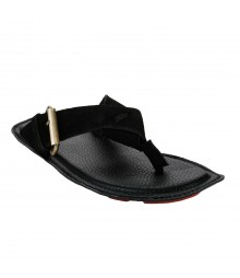 Le Costa Black Slipper for Men - LSP0004