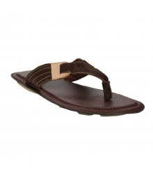 Le Costa Brown Slipper for Men - LSP0010