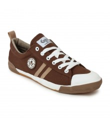 Vostro Brown Cream Casual Shoes for Men - VCS0126