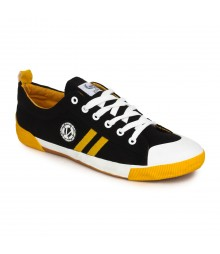 Vostro Black Yellow Casual Shoes for Men - VCS0128
