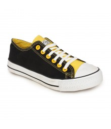 Vostro Black Yellow Casual Shoes for Men - VCS0134