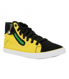 Vostro Yellow Black Casual Shoes for Men - VCS0148