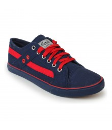 Vostro Dark Blue Red Casual Shoes for Men - VCS0157