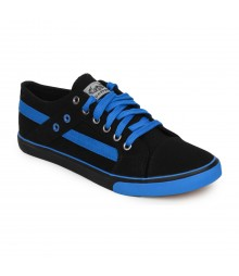 Vostro Black Light Blue Casual Shoes for Men - VCS0158