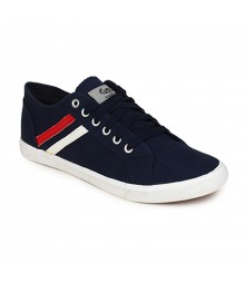Vostro Blue Yellow Casual Shoes for Men - VCS0160