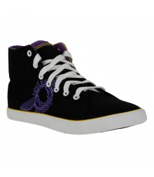 Vostro Black Yellow Purple Casual Shoes for Men - VCS0302