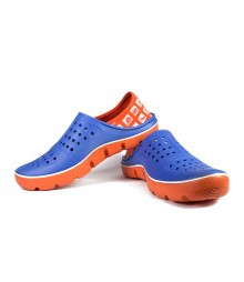 Vostro Men Crocs Sandals & Floaters Bob Blue Orange VES0003