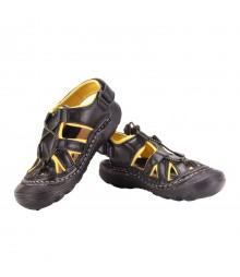 Vostro Men Sandal RiderA610 Black Yellow VSD0001