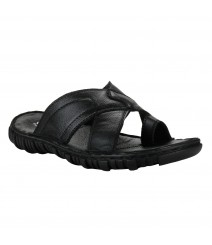 Cefiro Black Slipper for Men - VSD0039