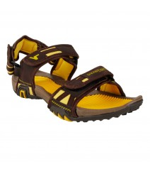 Vostro Brown Yellow Sandal Grip for Men - VSD0045