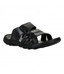 Cefiro Black Slipper for Men - VSP0012