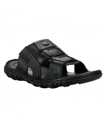 Cefiro Black Slipper for Men - VSP0013