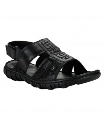 Vostro Black Sandal for Men - VSP0015