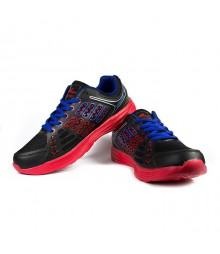 Vostro Men Sports Shoes Boozhim Black Red VSS0001