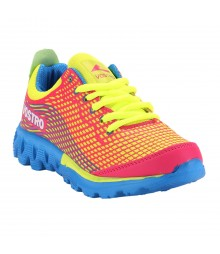 Vostro Sports Shoes Jetfuse Girl Pink Yellow VSS0019